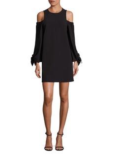 Tibi Crepe Cold-Shoulder Dress
