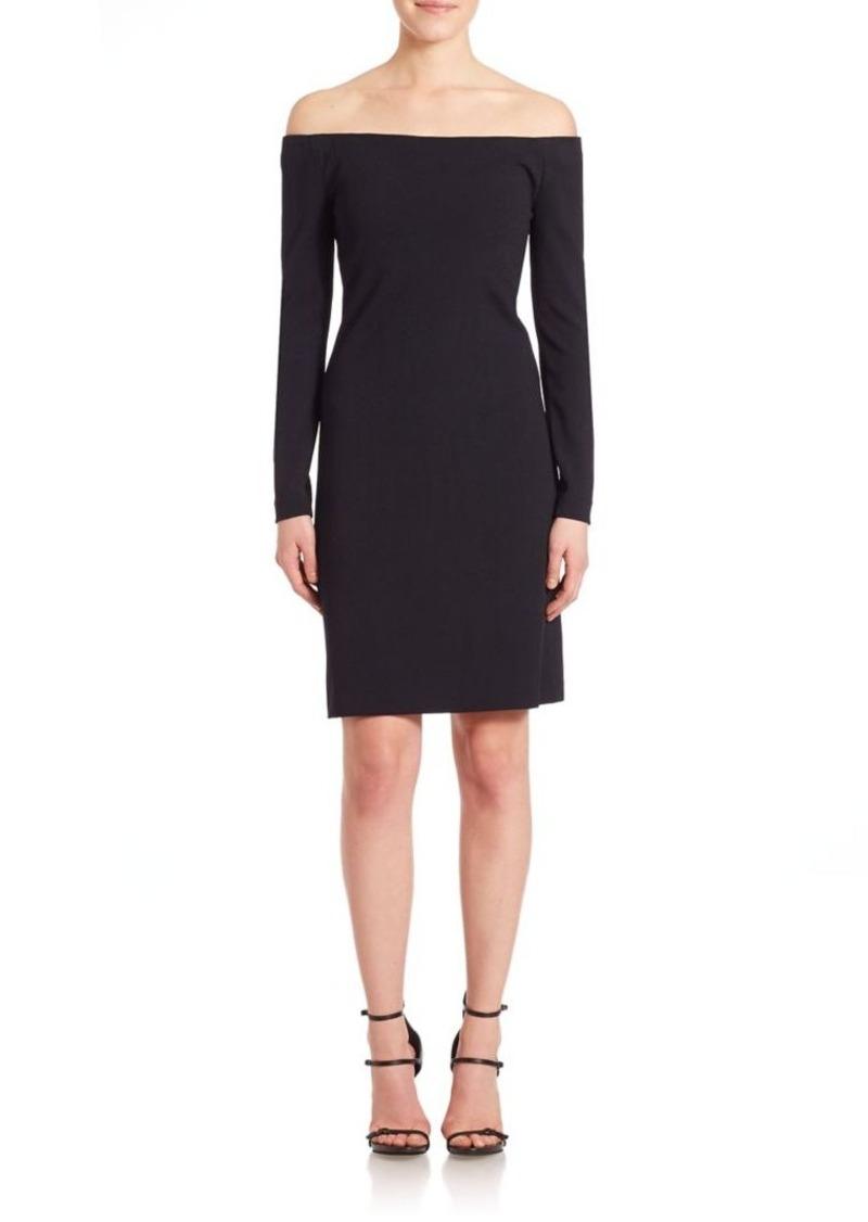 Tibi Crepe Off-The-Shoulder Dress