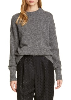 Tibi Crewneck Alpaca Blend Sweater
