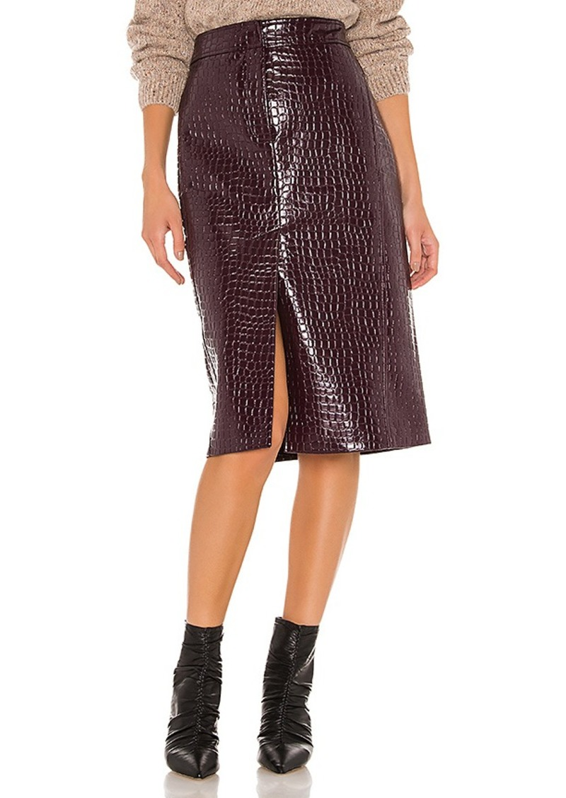 Tibi Croc Embossed Patent Trouser Skirt