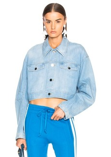 Tibi Crop Denim Jacket