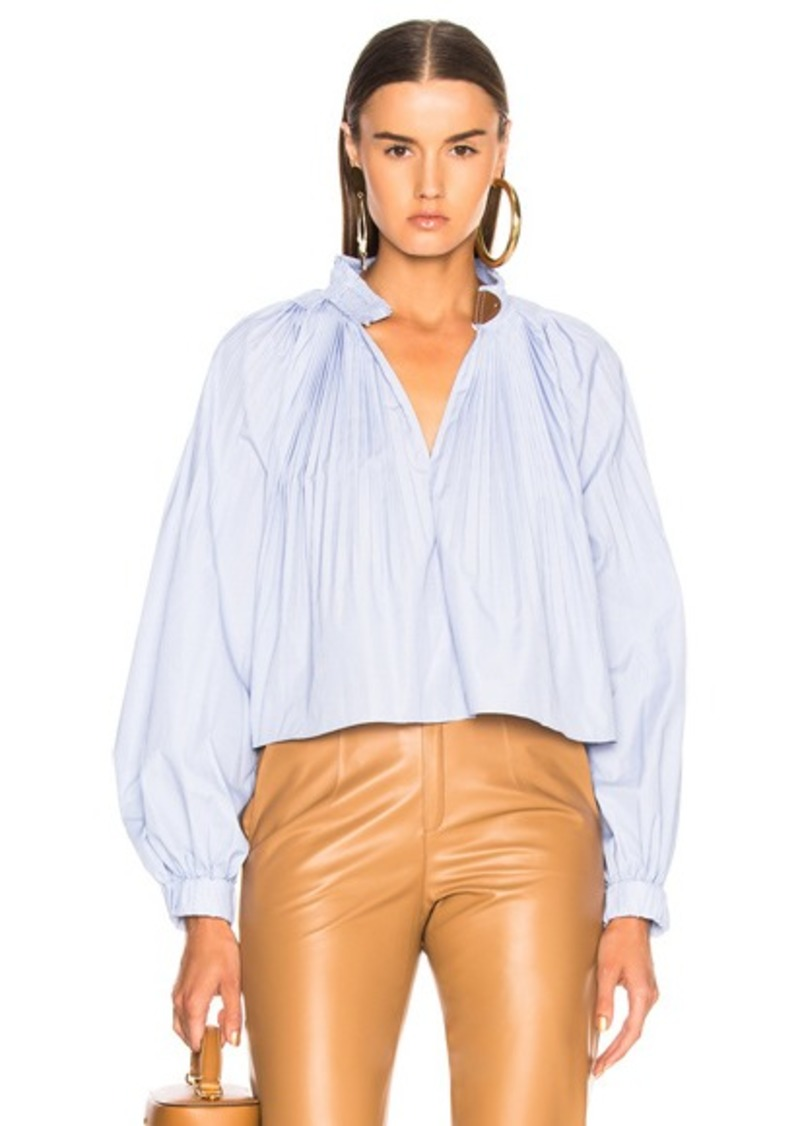 Tibi Crop Edwardian Top