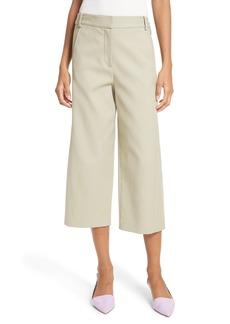 Tibi Cropped Cotton Pants