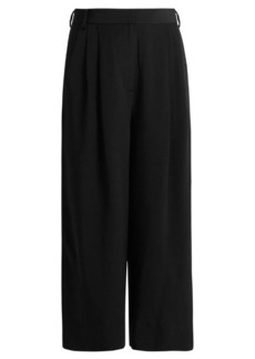 Tibi Cropped silk trousers