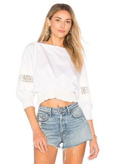 Tibi Cropped Top in White. - size L (also in M,S,XS)