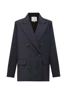 Tibi Curved-hem double-breasted jacket