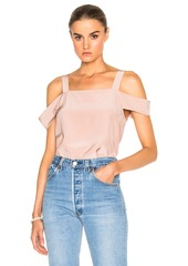Tibi Cut Out Sleeve Top