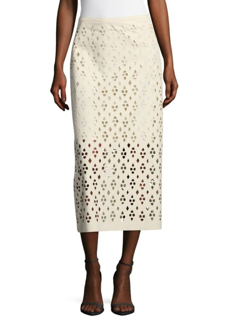 Tibi Cutout Zippered Skirt