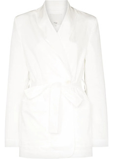 Tibi wraparound cotton blazer