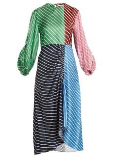 Tibi Delphina striped silk dress