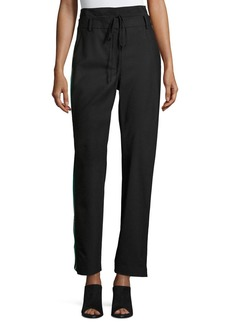 Tibi Dempsey Striped-Sides Suiting Pant