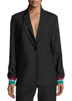Tibi Dempsey Two-Button Suiting Blazer
