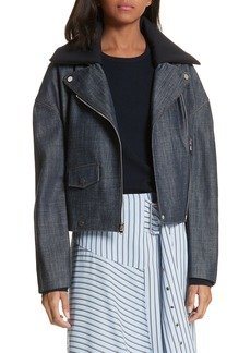 Tibi Denim Moto Jacket
