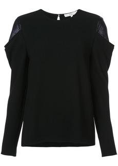 Tibi detailed shoulder blouse - Black