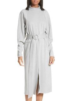 Tibi Dolman Sleeve Stretch Twill Midi Dress