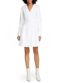 Tibi Dominic Long Sleeve Twill Shirtdress