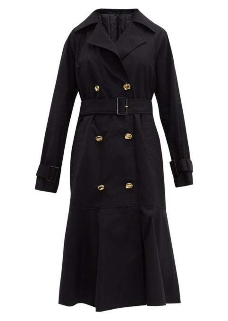Tibi Double-breasted cotton trench coat