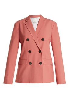 Tibi Double-breasted twill blazer