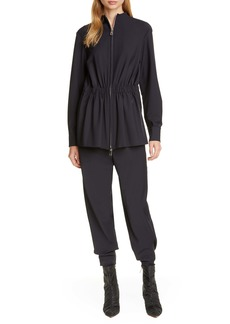 Tibi Double Layered Long Sleeve Jumpsuit