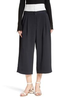 Tibi Double Waist Crop Pants