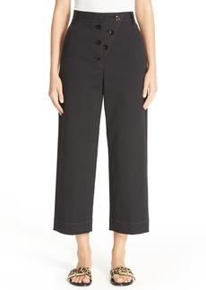 Tibi Double Weave Wide Leg Crop Pants
