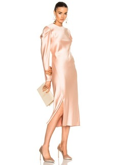 Tibi Drape Sleeve Dress