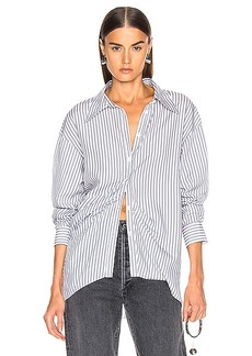 Tibi Draped Shirting Top