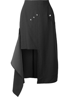Tibi Convertible draped woven midi skirt