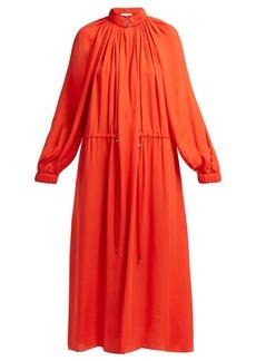 Tibi Drawstring-waist georgette dress