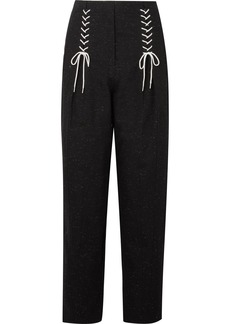 Tibi Easron lace-up cotton-blend tapered pants
