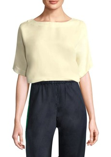 Tibi Easy Elbow-Sleeve Top