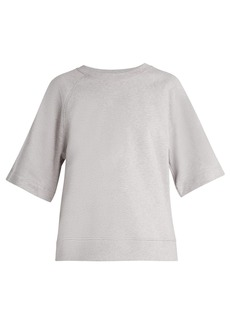 Tibi Easy short-sleeved cotton-jersey sweatshirt