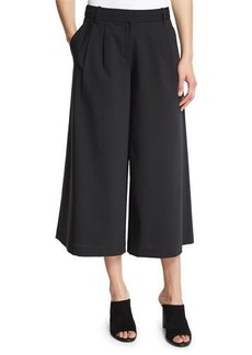 Tibi Edie Pleated Wool-Blend Culottes