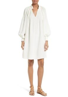 Tibi Edwardian Crêpe de Chine Short Dress