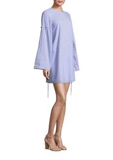 Tibi Elliott Striped Trapeze Dress