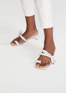 Tibi Emil Toe Ring Square Toe Sandals