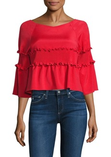 Tibi Faille Crop Top