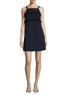 Tibi Faille Sleeveless Short Dress