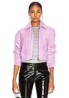 Tibi Faux Shearling Gus Cropped Jacket