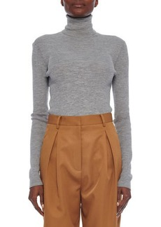 Tibi Featherweight Ribbed Turtleneck Pullover