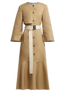 Tibi Finn cotton-twill trench dress