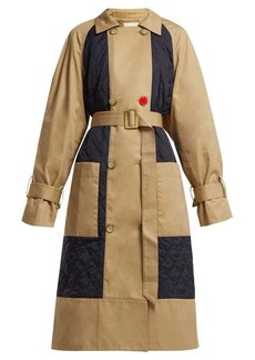 Tibi Finn quilted-panel cotton trench coat