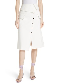 Tibi Flap Detail Urban Stretch Skirt
