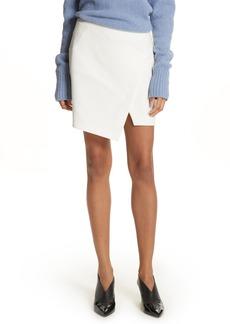 Tibi Flap Front Stretch Miniskirt