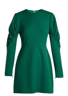 Tibi Florence gathered-sleeve mini dress