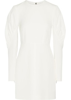 Florence ruched stretch-twill mini dress