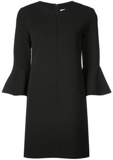 Tibi fluted sleeve shift dress - Black