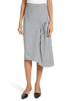 Tibi Gingham A-Line Skirt