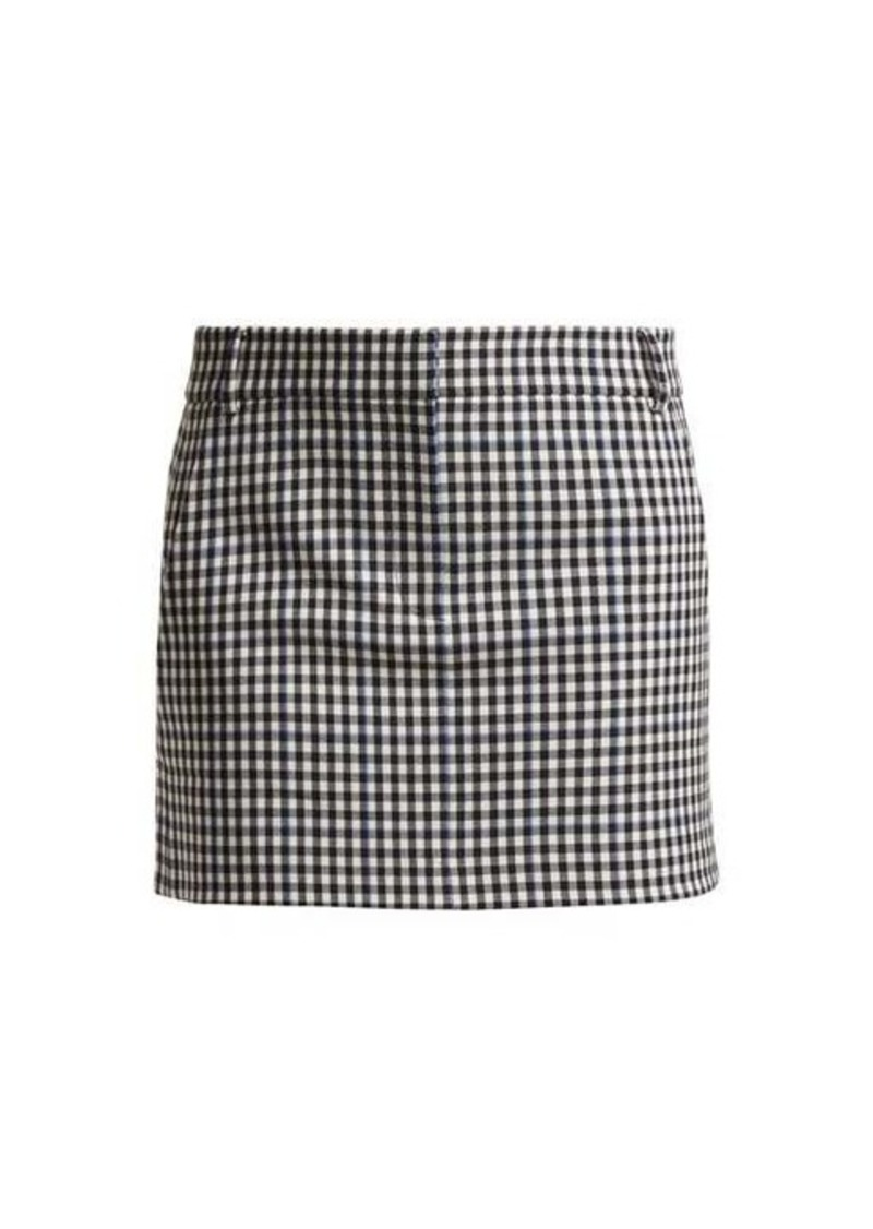 Tibi Gingham mini skirt