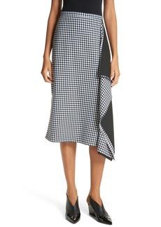 Tibi Gingham Ruffle Skirt